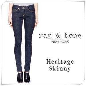 Rag & Bone Heritage Mid Rise Ankle Skinny Jeans